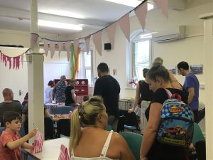 A busy moment at our summer fete