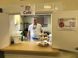 Martin helping with food and drinks at our summer fete